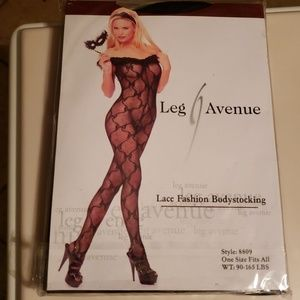 Lace Fashion Bodystocking Open Crotch